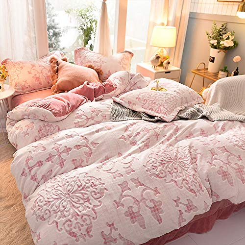 Quality Milch Velvet Schnittblume Satz Von Vier Winter-starken Warmem Baby-Velvet Kit Single Double Set of Four 220 * 240 -