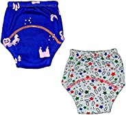 GREENBUB Padded Underwear/Potty Training Pants - Semi Waterproof, Pull-up Organic Cotton Underwear - Pack of 2