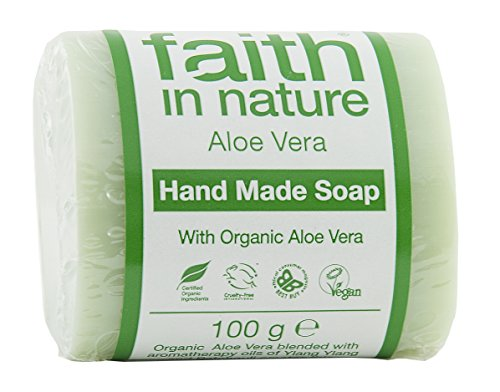 Faith In Nature 6253   Jabón vegetal puro Aloe Vera. Barra 100g