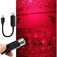 GPNE Romantic Auto/Home Roof Star Projector Lights,Usting 2019 Flexible USB Night Lamp Fit All Cars SUV Truck Ceiling Decoration Light Interior Ambient Atmosphere - Plug and Play (Black)