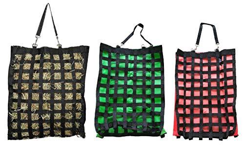 NETPROSHOP Slow Feeder Gitter Heusack groß aus starken 600D Nylon Farbauswahl, Farbe:Gruen