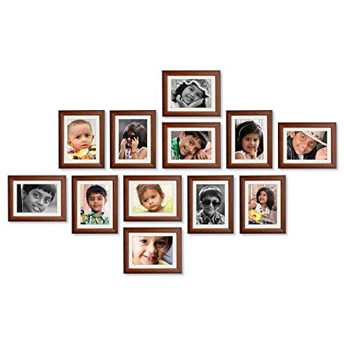 Ajanta Royal Classic set of 12 Individual Brown Photo Frames (12-6x8 Inch)...