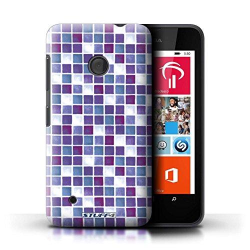 iCHOOSE Print Motif Coque de protection Case / Plastique manchon de telephone Coque pour iPhone 6+/Plus 5.5 / Collection Carreau Bain / Jaune/Marron Violet/Blanc