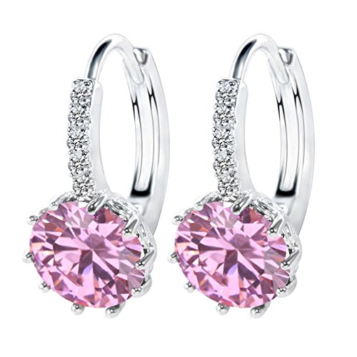 b70bda1a56dd Wiftly Damen Ohrringe925 Silber mit Herz Zirkonia Elements Kristall Smaragd    Saphir   Topas   Rubin