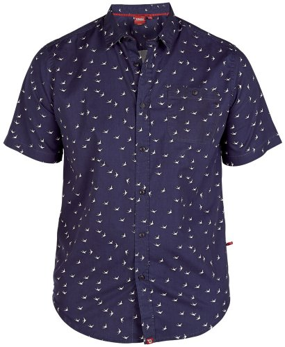Duke Swallow Polo à imprimé blue