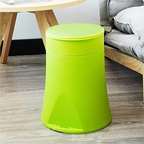 trash can half from move For bags Storage barrels Home Covered Creative plastic trash can 12L green