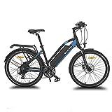 URBANBIKER vélo électrique VTC VIENA (Bleu 28'), Batterie Lithium-ION Samsung 840Wh (48V et 17,5Ah), Moteur 350W, 28 Pouces, Freins hydraulique Shimano.