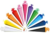 Unbekannt Schultüte - einfarbig - Rohling / Bastelschultüte - GRÜN - 85 cm - mit Holzspitze / Tüllabschluß - Zuckertüte Roth - zum Basteln, Bemalen und Bekleben