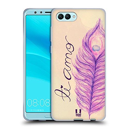 Head Case Designs Ti Amo Pfauenfedern Soft Gel Hülle für Huawei Nova 2S