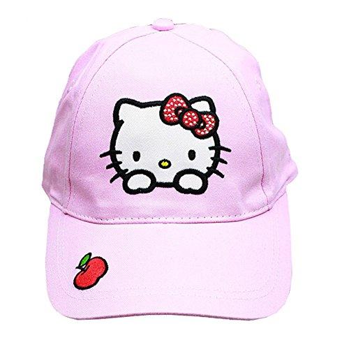 Hello Kitty Sanrio Apple (Baseball Cap–Hello Kitty–Licht Pink Apple (Youth/Kinder) New Hat hek546l-2)