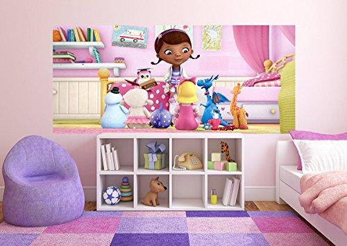 Doc McStuffins Disney, Papier Fototapete Kinderzimmer - 202x90 cm - 1 Teil, Papier, multicolor, 0,1 x 202 x 90 cm ()