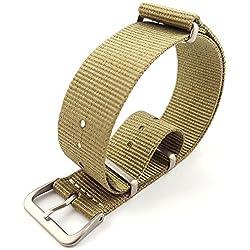 G10 Nato Military Khaki Nylon Watch Strap Band Satin Buckle 18mm