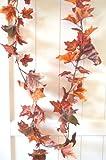 Herbstgirlande Herbstblätter Laub rot / orange / braun Herbst Blättergirlande Tischdeko Girlande künstlich Fensterdeko Dekogirlande Deko 78 Blätter 180cm - 2