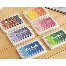 DISOK - Lote 6 Tintas Multicolor Para Sellos
