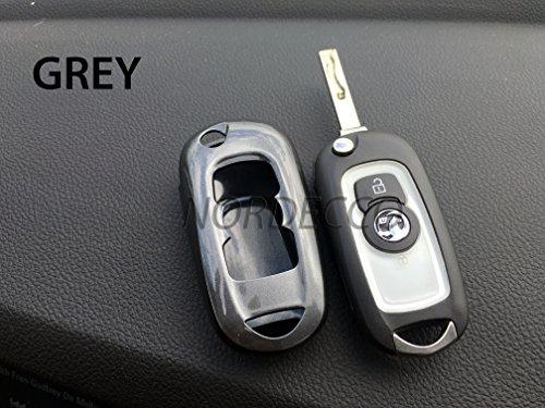 Hochwertiger ABS-Hartschalenschutz für Funkschlüssel, Displayschutzfolie, für Opel, Design Elite Tech-Line-Energy SRI, grau Protex Design
