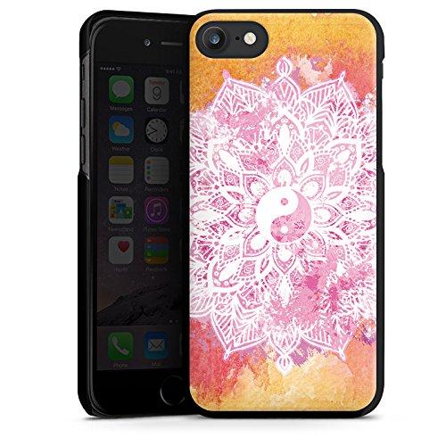 Apple iPhone X Silikon Hülle Case Schutzhülle Mandala Yin Yang Sommer Hard Case schwarz