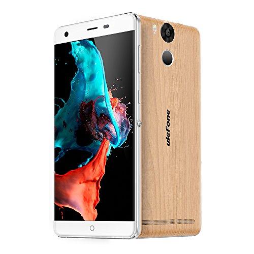Ulefone Power Smartphone ohne Vertrag (5.5u0022 FHD Display, 4G Dual-SIM, 3GB RAM, 16GB Interner Speicher, Dual-Hinterkamera, Android 6,0, 6050mAh Akku mit Schnellaufladung) Wooden