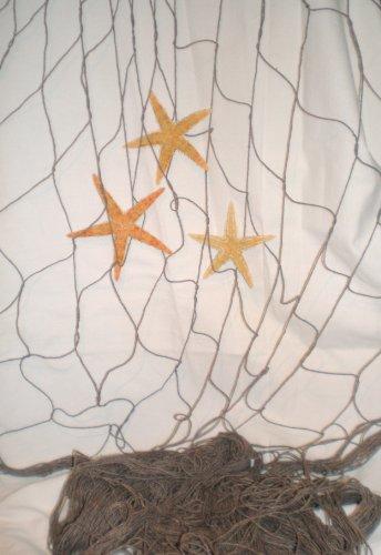 Fischernetz antik braun 400 x 200 cm INCL. 3 x Seestern