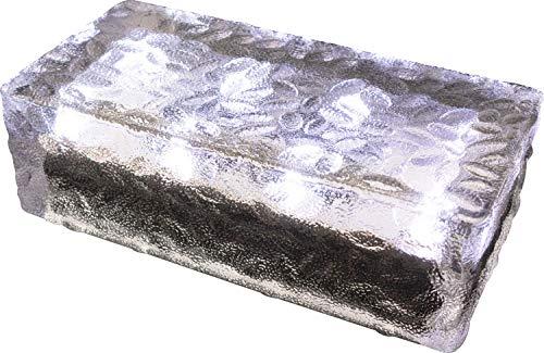 FUCHS Solar Pflasterstein in kaltweiss 19,6x9,6x6 cm - zur Wegbeleuchtung (Rutschfest)