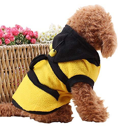 Lustige Pudel Kostüm - Yiwa Cat Hunde,Kleidung für Hunde Katze Pet,Verkleidungen & Kostüme für Hunde,Tierbedarf,Haustier-Mantel-entzückende lustige Bienen-Kostüm-Pudel-Kleidung Yellow 8