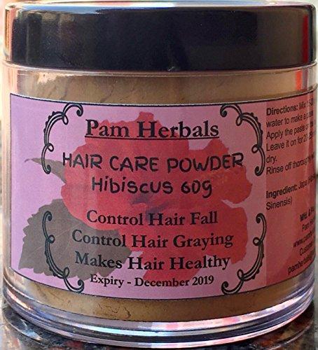 Pam Herbal hibuscus Haar Pflege Puder 60g Control Haarausfall, Fall & Stop vorzeitiger grauen (Hub-fall)