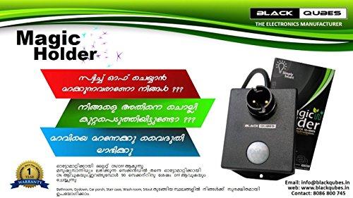 Generic C3-ARYI-FRM7 E27 Socket PIR Auto Human Motion Sensor Infrared Detector Bulb Base Holder, White