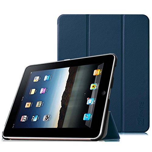 Fintie Apple iPad 1 Hülle Case - ultra-schlank superleicht Ständer SlimShell Cover Schutzhülle Etui Tasche für iPad 1st Generation, Marineblau (64 Ipad Generation 1. Gb)