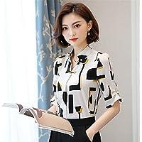 TAIDUJUEDINGYIQIE Mujeres manga corta camisetas Camisas Vestido delgado, blanco, XL