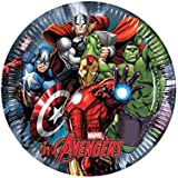 Marvel 46876 Avengers Power Party Decoration Plates Paper, 23 cm/Large