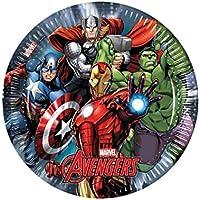 Avengers - Platos de papel, 8 unidades, 8 cm, multicolor (Procos 6886663)