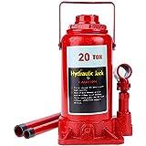 Homdox Gato de botella,Gato Hidráulico Vertical,Color Rojo( Hasta 20 T)