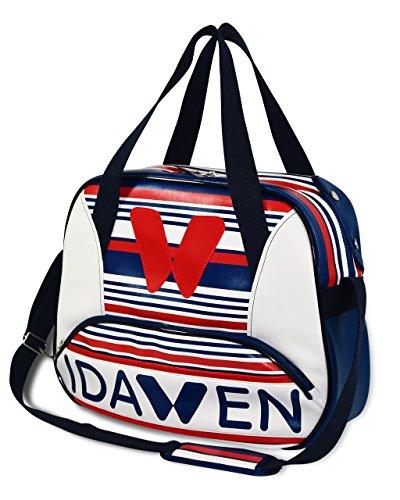 Idawen Designer Sporttasche | blau & weiß | beschränkte Auflage | mehr Innere Sachen für die organisierte Lagerung | hohe kapazität, licht | veganes Produkt, PETA-zertifiziert