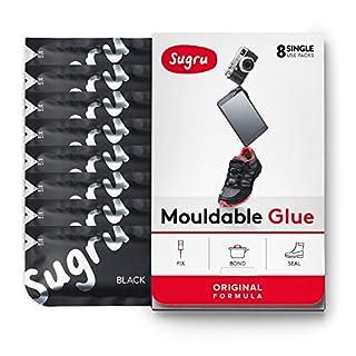 Sugru Mouldable Glue - Original Formula - Black 8-Pack