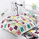 AI LI WEI Klimadecke, mat Weißer Hintergrund Hyun farbiges Blumenmuster-Winter-Steppdecken-Verdickungs-Schlafsaal-Student Sheets Flannel Nap Nap (Size : 200 * 230cm)