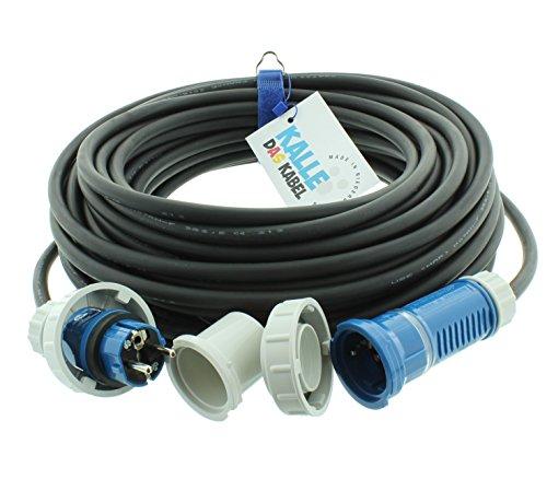 Preisvergleich Produktbild AQUASAFE Druckwasserdichte Gummiverlängerung IP68 H07RN-F 3G 1,5mm² von KALLE DAS KABEL 25 Meter
