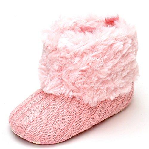 Estamico Sapatos Bebé Puschen E Rastejando Branca Rosa HvrHwq