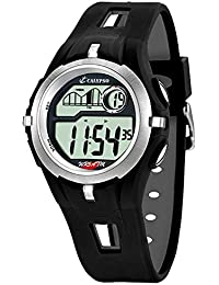 Calypso Watches Kinder/Jugend Armbanduhr Digitaluhr Alarm Schwarz-Silbern K5511/1
