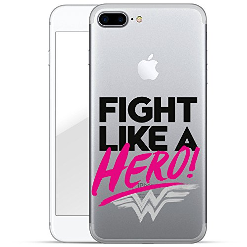finoo | iPhone 8 Plus Handy-Tasche Schutzhülle | ultra leichte transparente Handyhülle in harter Ausführung | kratzfeste stylische Hard Schale mit Motiv Cover Case |Wonder woman Art Fight like a hero