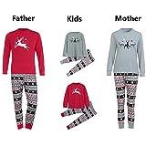 Weihnachten Schlafanzug Familien Outfit Mutter Vater Kind Baby Pajama Langarm Nachtwäsche Print Sleepwear Casual Rundkrage Xmas Deer Print T-Shirt Oberteile Tops+Lang Hose Set 2Pcs von Innerternet