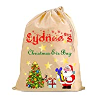The Lazy Cow Christmas Eve Santa sack bag great for pyjamas/nighty or sneaky early presents