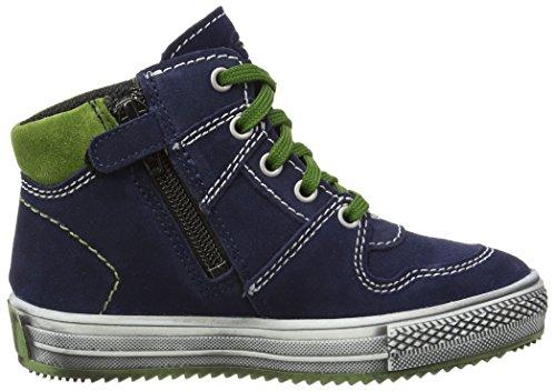 Richter Kinderschuhe Omero, Sneakers Hautes garçon Bleu (atlantic/cactus  7201)