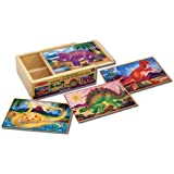 Melissa & Doug 13791 Dinosaurs Puzzles in a Box
