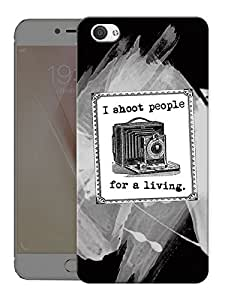 "Humor Gang Photographer Living Printed Designer Mobile Back Cover For ""Vivo X7"" (3D, Matte Finish, Premium Quality, Protective Snap On Slim Hard Phone Case, Multi Color)"