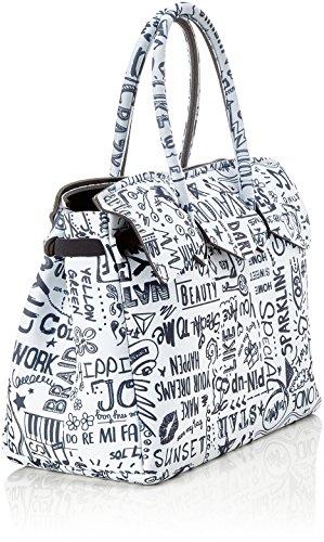 save my bag Miss, Borsa a Mano Donna, 34x29x18 cm (W x H x L) Multicolore (Love Words)
