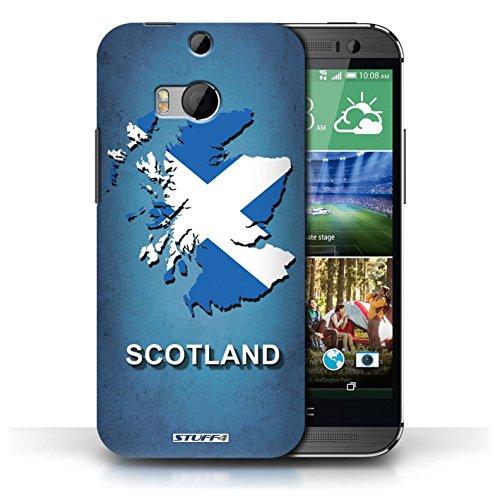 Coque de Stuff4 / Coque pour HTC One/1 M8 / Ecosse/écossaise Design / Drapeau Pays Collection Ecosse/écossaise