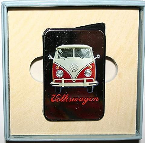 VW Volkswagen Camper Van Bus Miroir Finition à gaz Briquet Electronique Rechargeable Produit officiel, Red