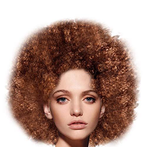 Syeytx Party Disco Big Bang Kopf Perücke flauschig lustige Afro Clown Haar Fußball Fan-Adult Afro Maskerade Haar Perücke (Tina Turner Perücke Halloween)