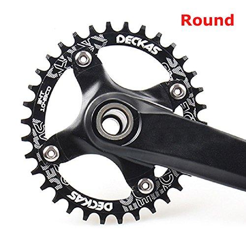 Piñón de repuesto para bicicletas de montaña o todo terreno, con distancia estándar entre los tornillos; BCD, pieza de aluminio, 104mm de diámetro, de la marca Grofitness, negro, 32T