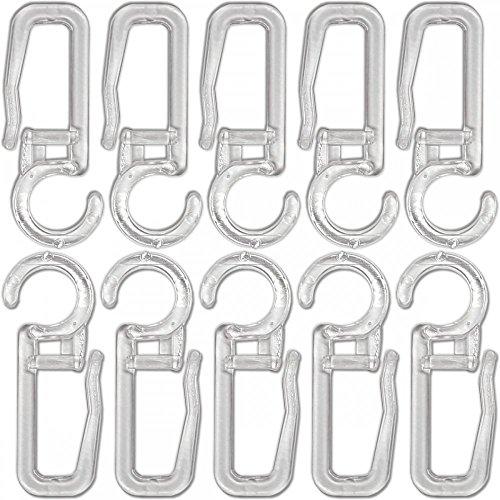 Agrafes crochets transparents pour rideaux diamètre 10mm - lot de 50