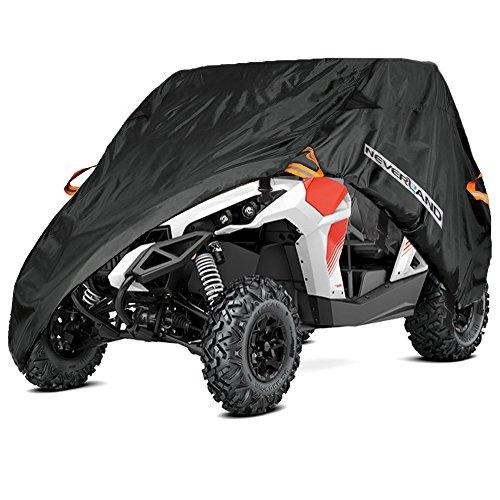 NOVSIGHT Housse de Protection pour Voiture Véhicule Utilitaire UTV Polaris RZR 570 Yamaha Can-Am Defender Honda Pioneer Kawasaki Teryx Mule en Oxford 300D Noir 2~3 Sièges